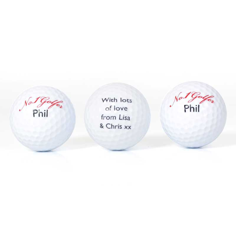 Set Of Personalised No1 Golfer Golf Ball Buy From Prezzybox Com