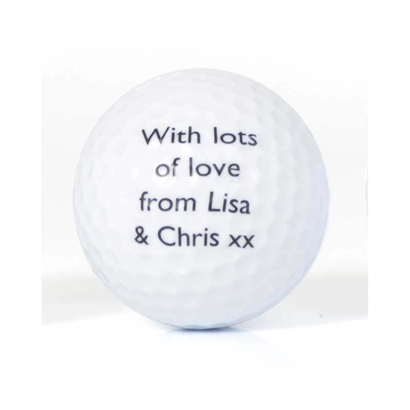 Set Of Personalised No1 Golfer Golf Balls