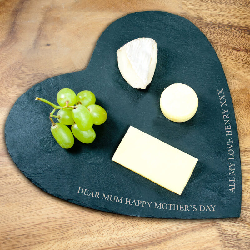 Personalised Heart Shaped Cheese Board