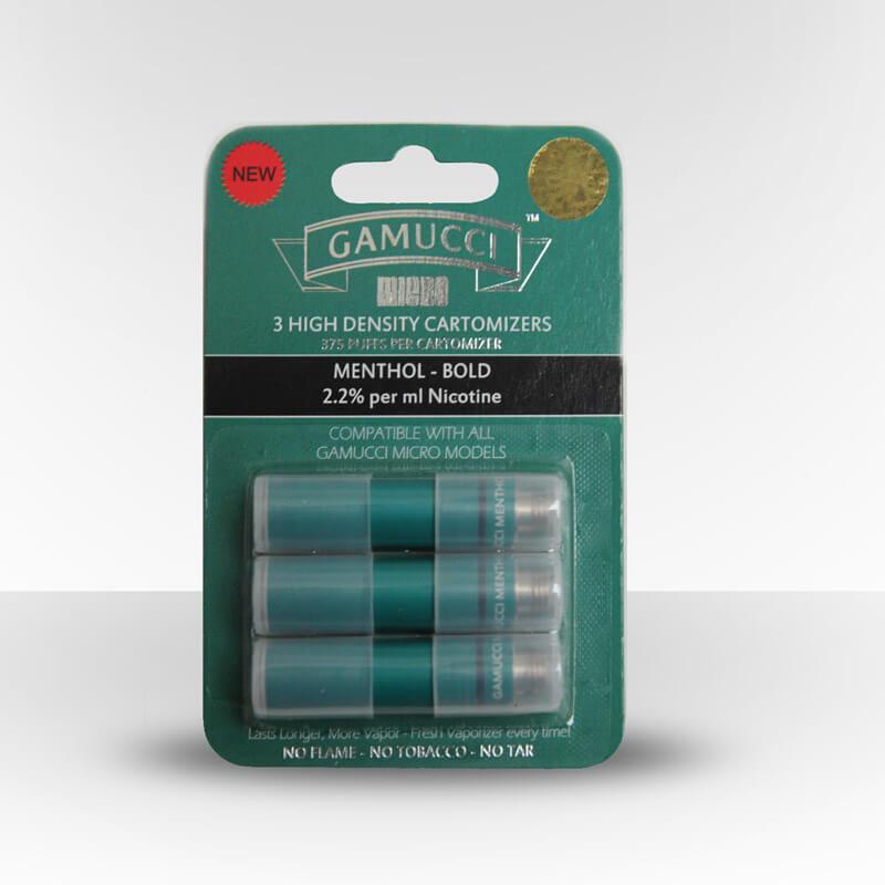 Gamucci Micro Cigarette 3 Cartomizer Refill Pack - Menthol Bold (22mg)