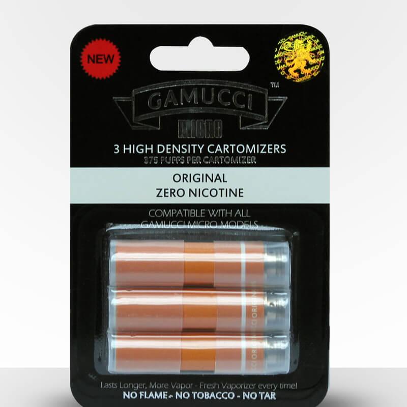 Gamucci Micro Cigarette 3 Cartomizer Refill Pack - Original Zero