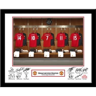 Personalised Man Utd Dressing Room Photo