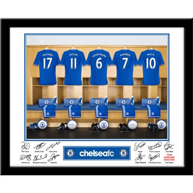 Personalised Chelsea Dressing Room Photo