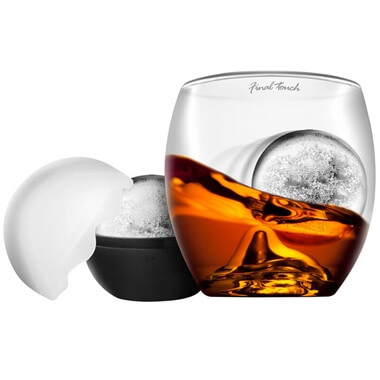 On The Rocks - Tumbler Glass and Ice Ball Mould