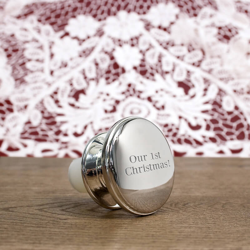 Personalised Silver Plated Champagne Stopper