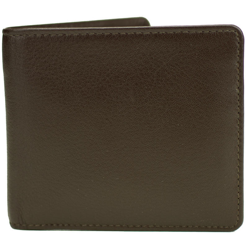 Mustard Brown Leather Coin Wallet