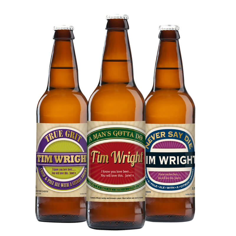 Personalised Beer - Pack of 3