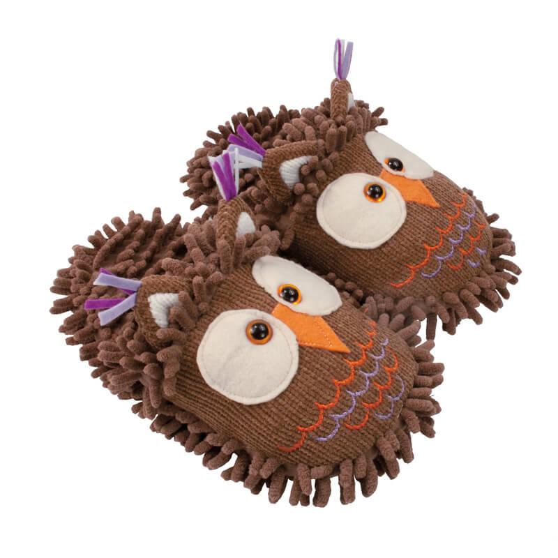Aroma Home Fuzzy Feet Slippers - Owl