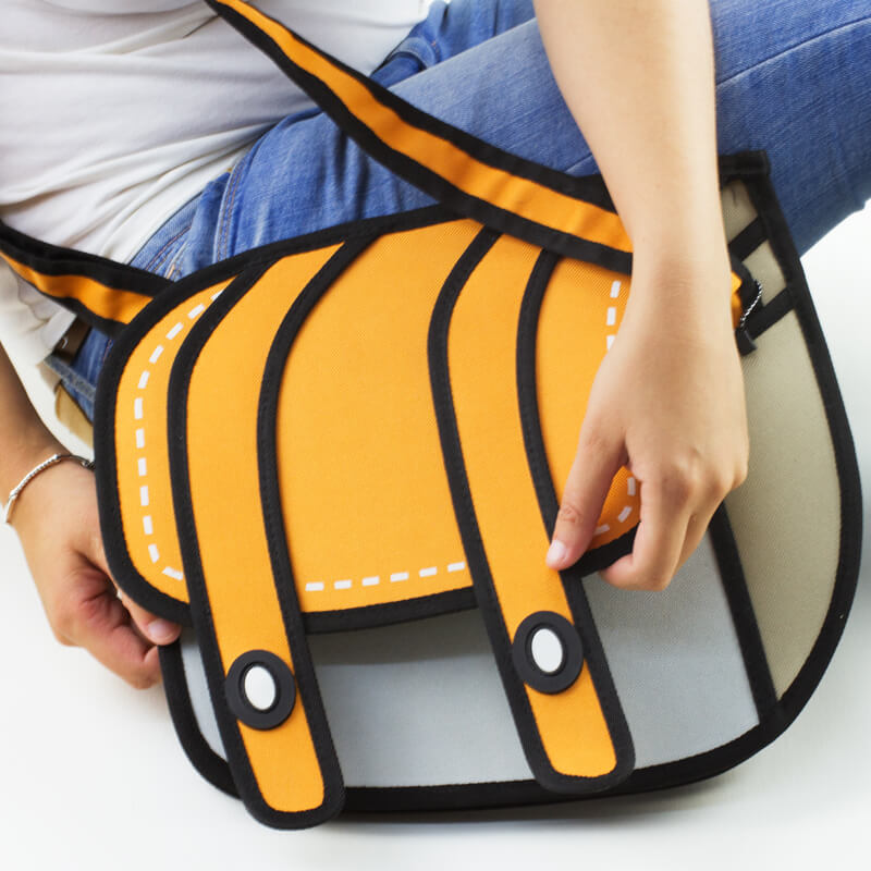 3D Cartoon Satchel - Orange