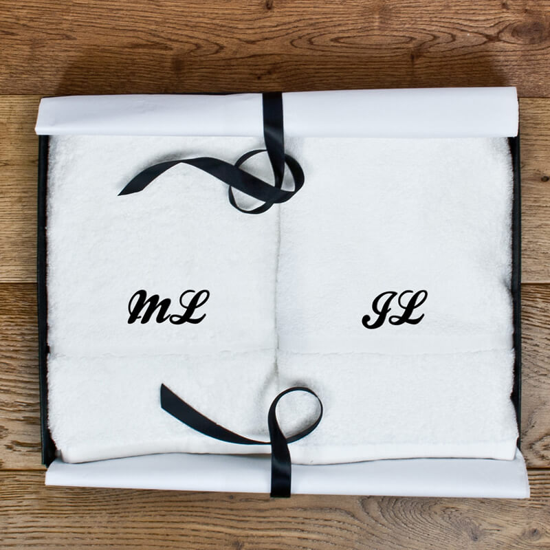 Personalised Luxury Hand Towels - Set Of Two