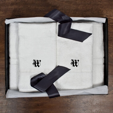 Personalised Couples Luxury Towel Set