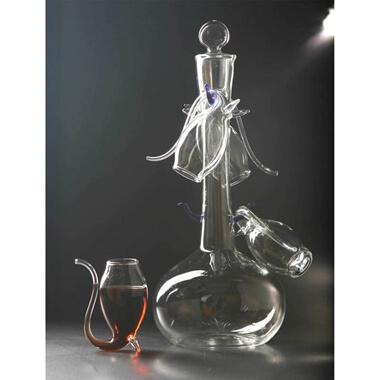 Port Decanter & 4 Glass Sipper Set