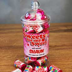 Personalised Love Hearts Mini Jar