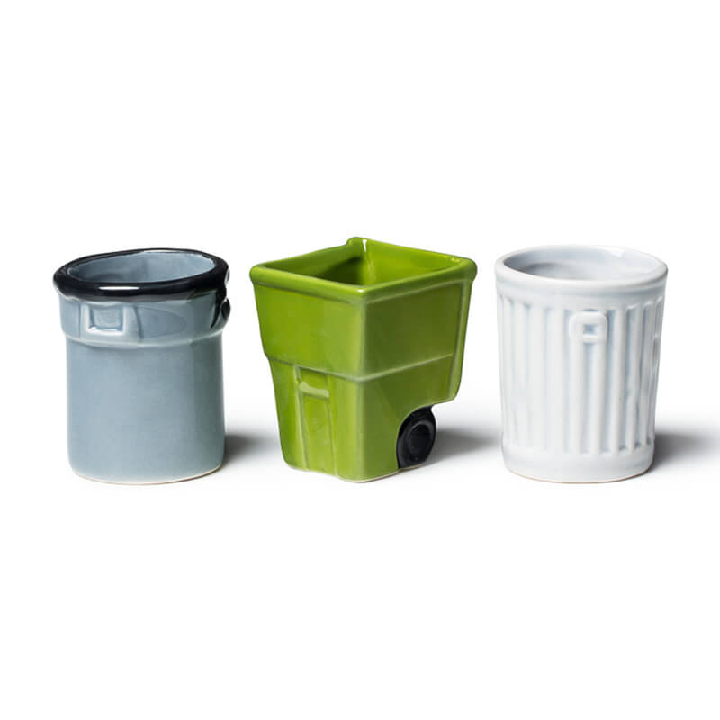 Get Trashed - Trash Bin Shot Glasses