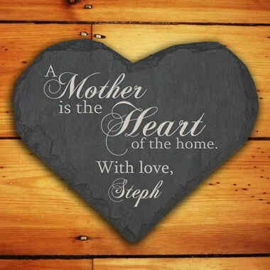 Personalised Slate Heart Keepsake