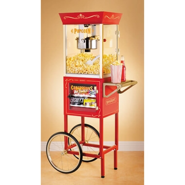 Old Fashioned Movie Time Popcorn Cart