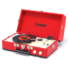 Steepletone 1960s Vinyl Record Player   Red