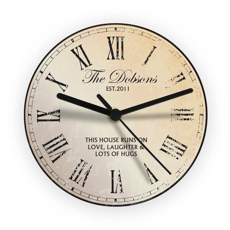Personalised Rustic Gl Clock