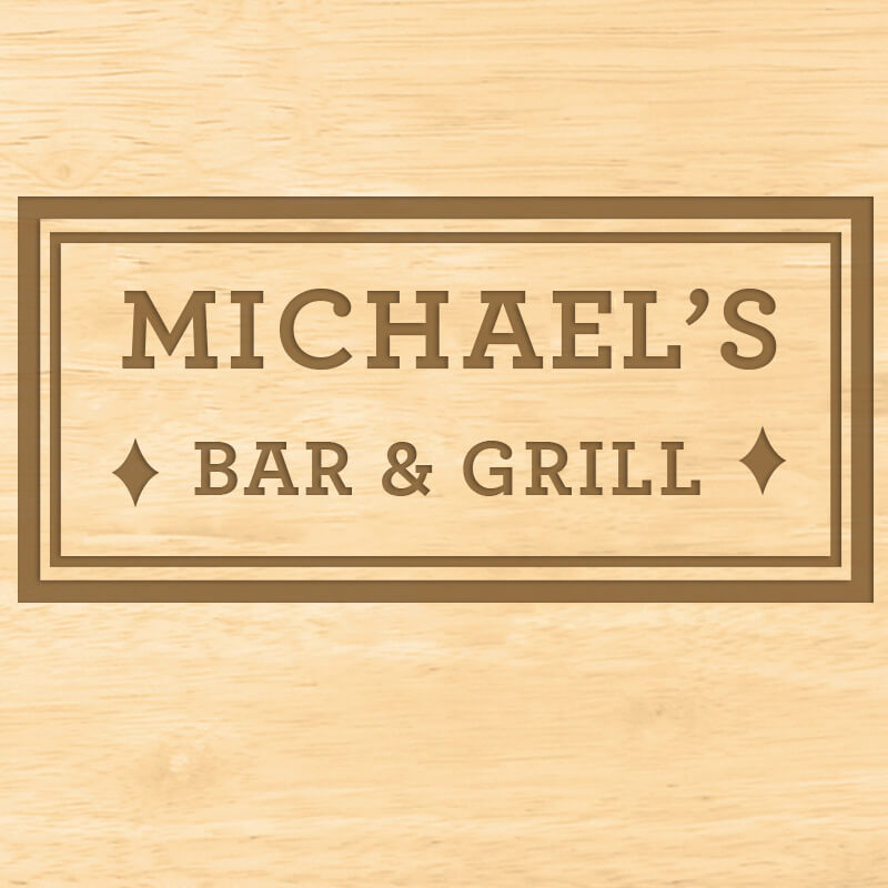 Personalised Bar & Grill Carving Board
