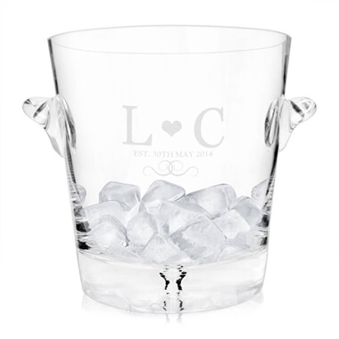 Personalised Monogram Glass Ice Bucket