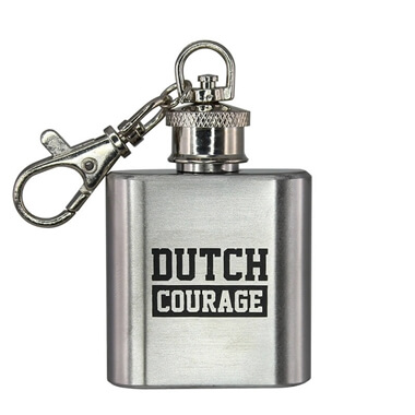Dutch Courage Flask Keychain
