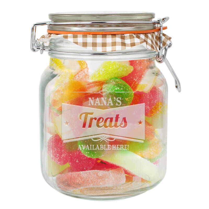Personalised Glass Kilner Jar