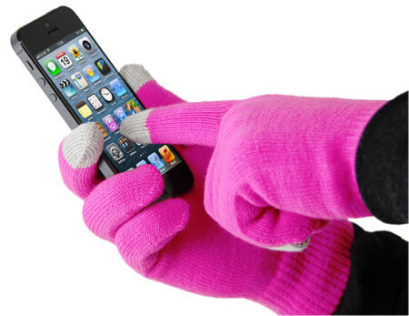 Smart Glove  Touch Glove for iPhone  Pink