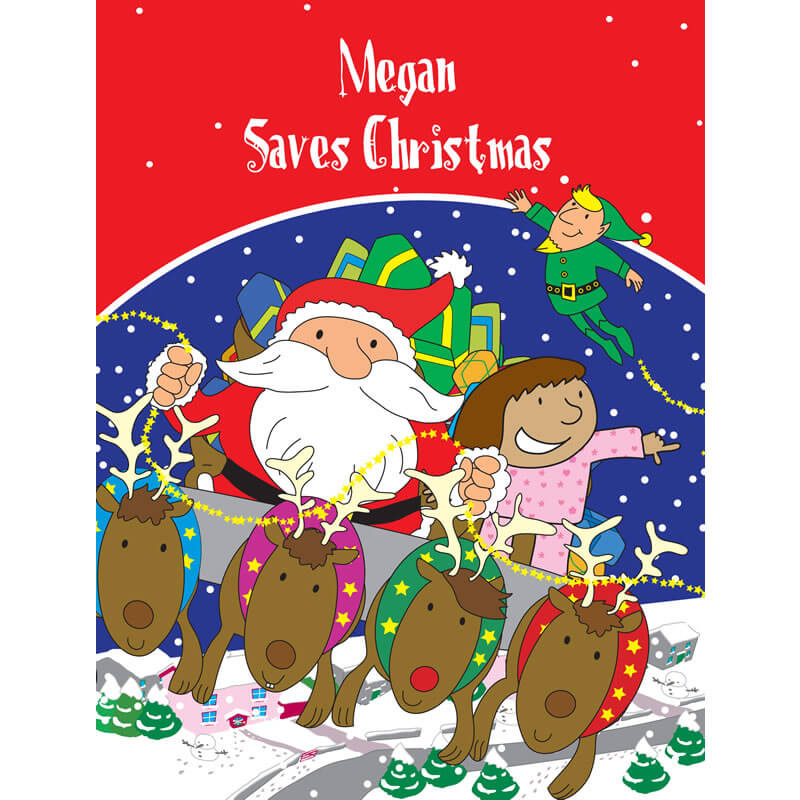 Personalised Christmas Book - Your Child Saves Christmas