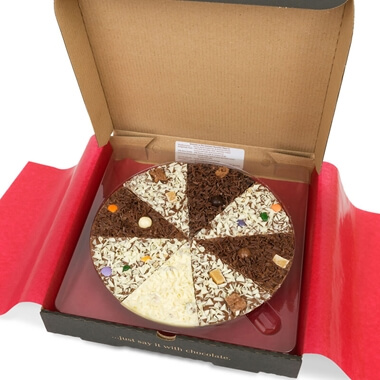 """Delicious Dilemma Chocolate Pizza 10"""""""
