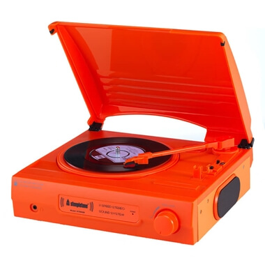Steepletone Three Speed Record Player - Orange