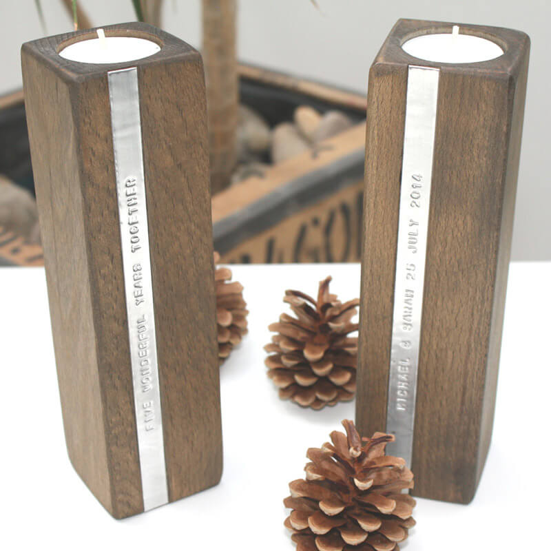 Personalised Wooden Candle Holders Buy From