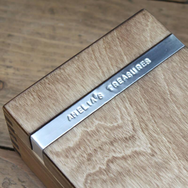 Personalised Wooden Trinket Box