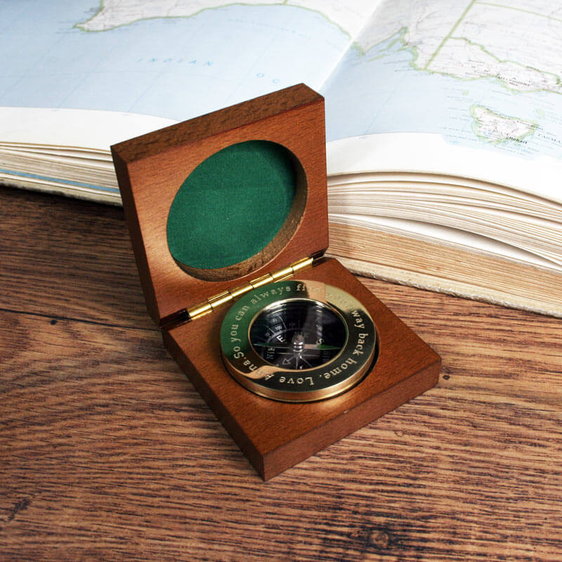 Personalised brass traveller 39 s compass buy from for Luxurious gifts for him