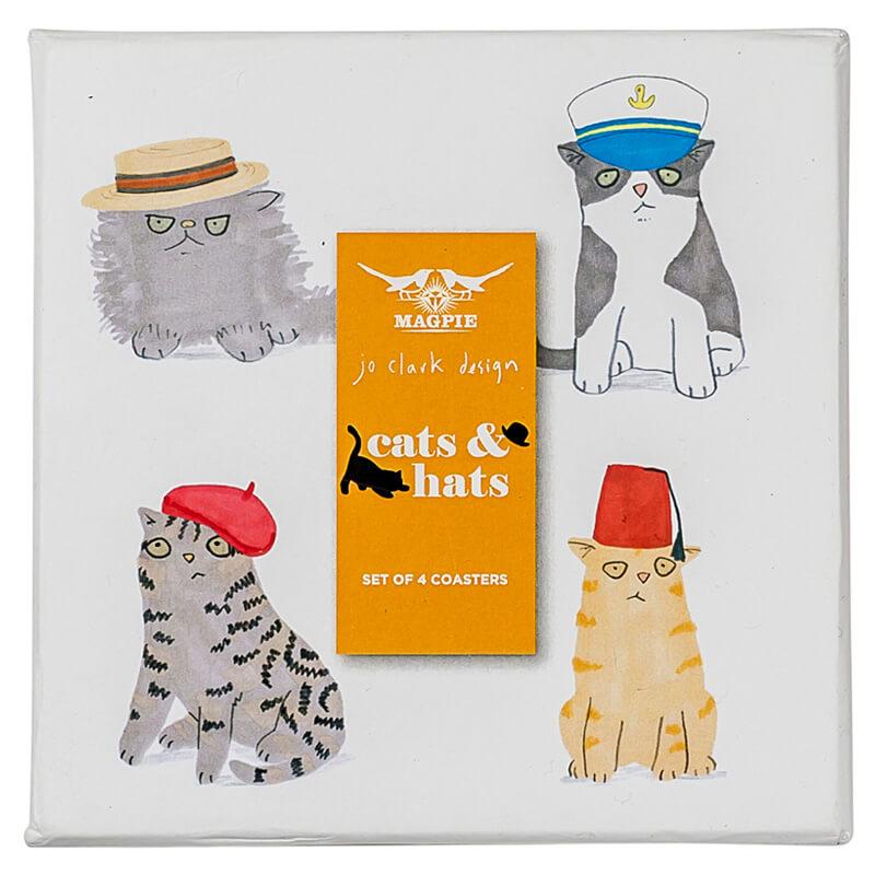 Cats & Hats Coasters