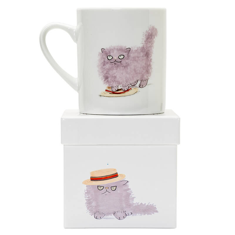 Cats & Hats Big Mug - Fluffy In A Boater
