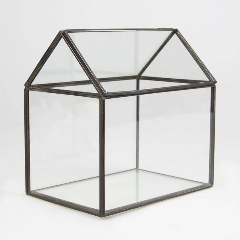 Black House Shape Terrarium