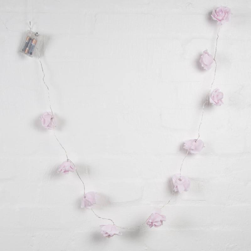 Pink Rose Light Garland