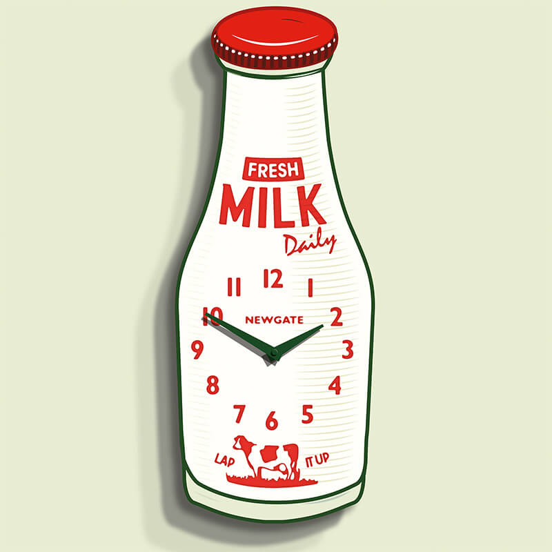 Newgate Milk Bottle Clock