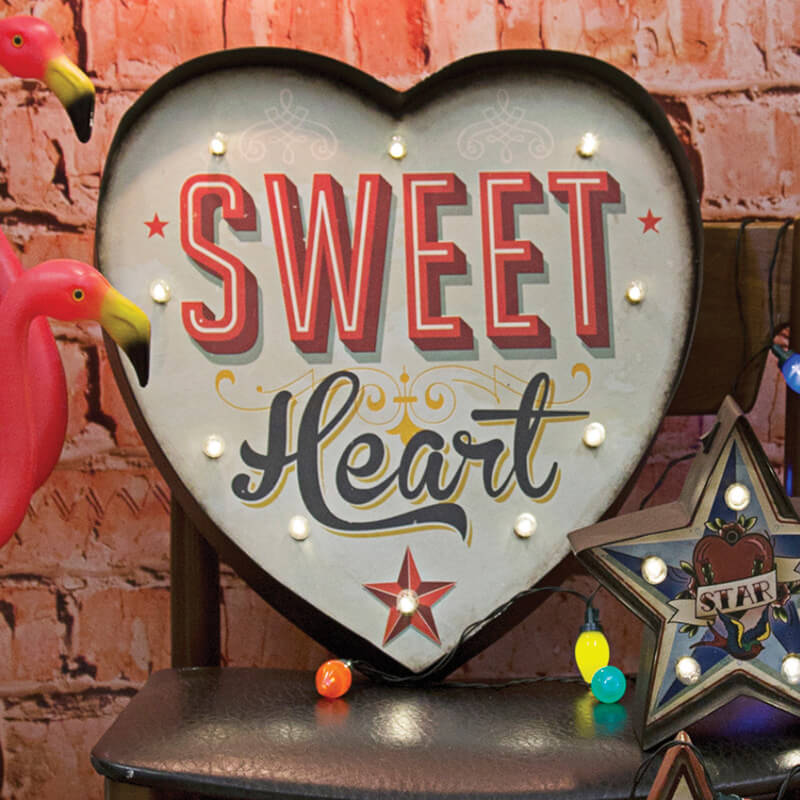 Carnival Light  Large Heart