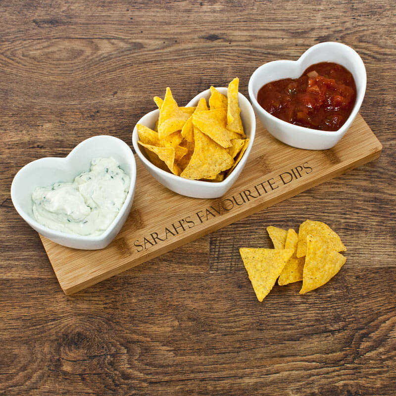 Personalised Heart Shaped Dip Bowls