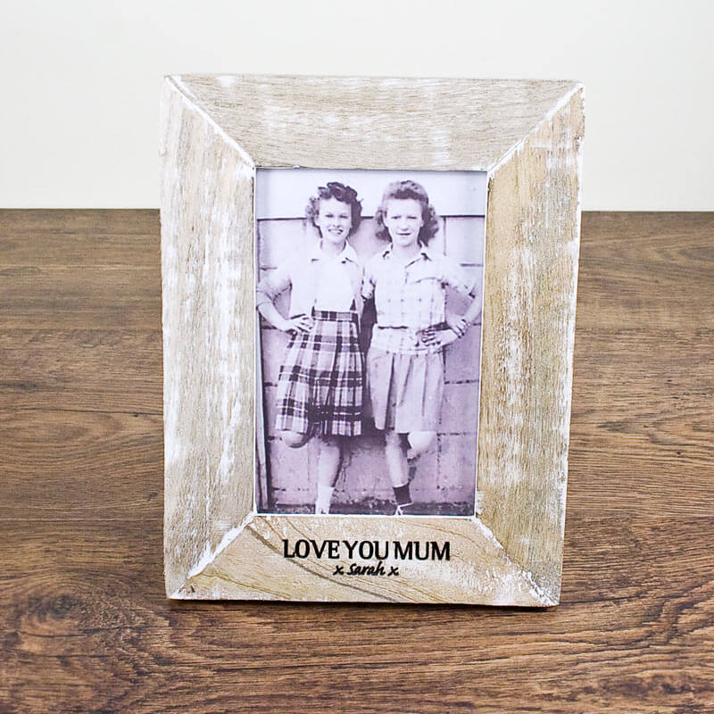 Personalised Rustic Style Photo Frame
