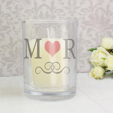 Personalised Monogram Candle Holder