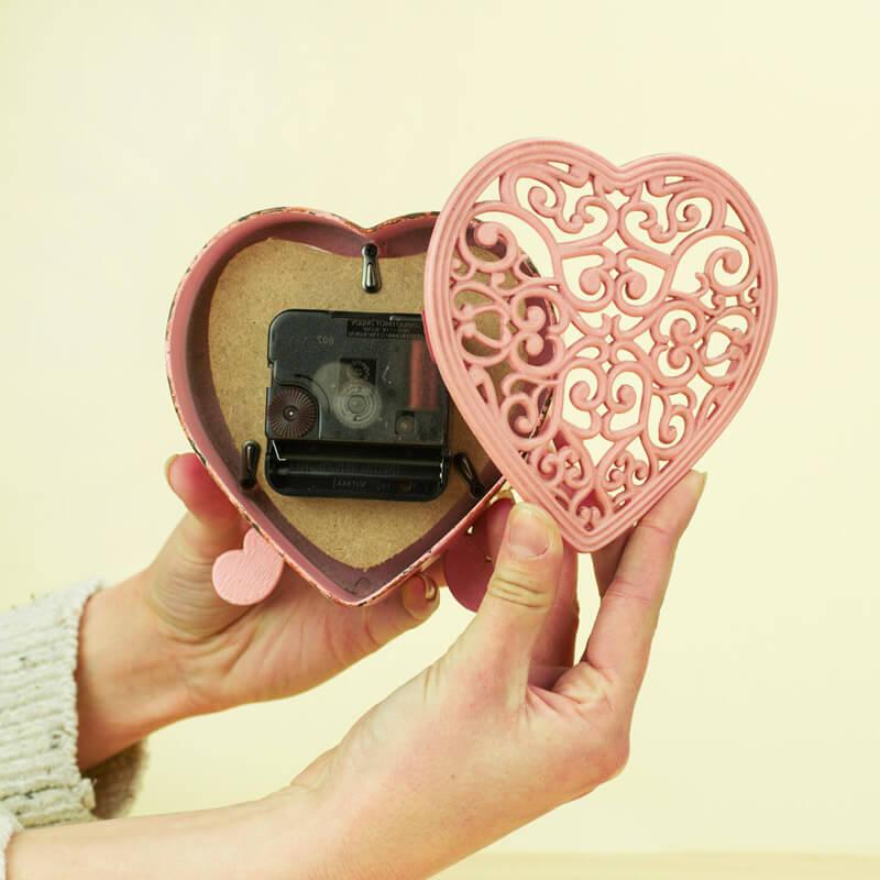 Boudoir Heart Clock - Pink