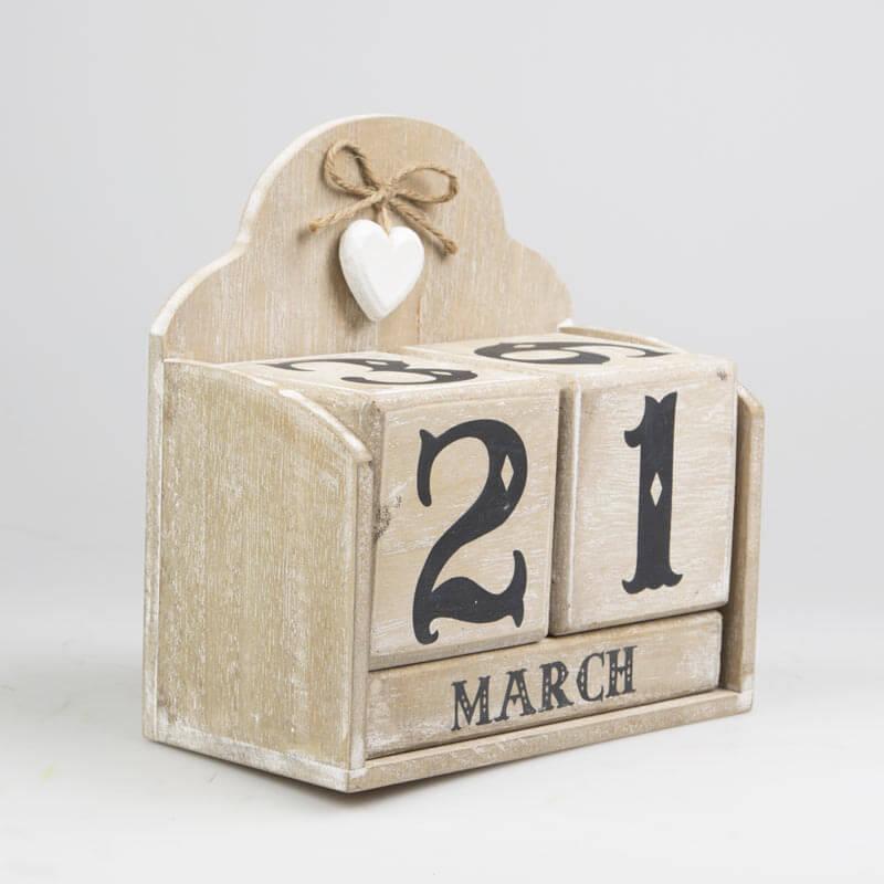 Whitewashed Calendar Block