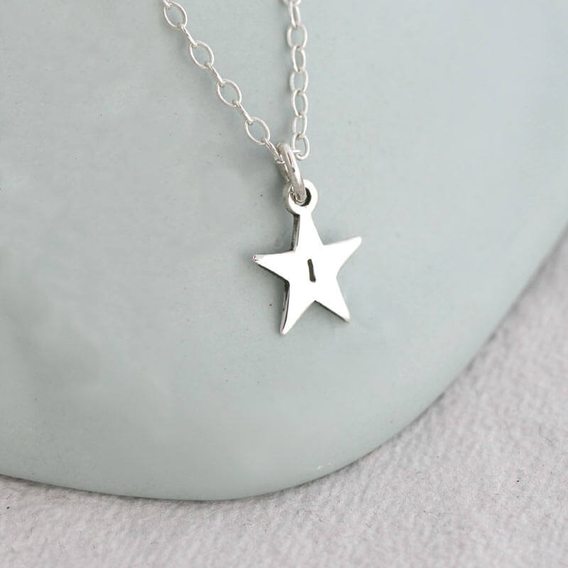 Personalised Brightest Star Necklace - Silver