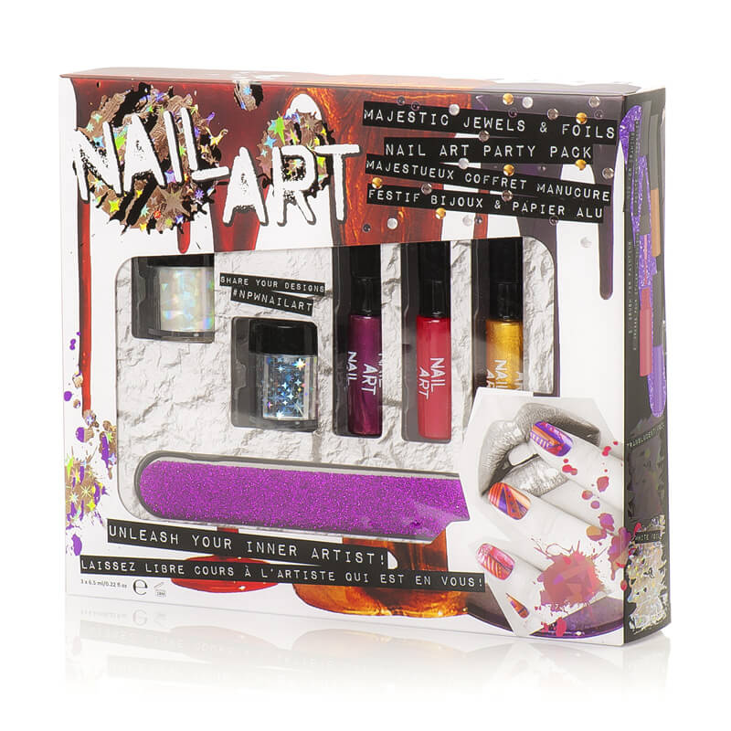Majestic Jewels And Foils Nail Art Party Pack