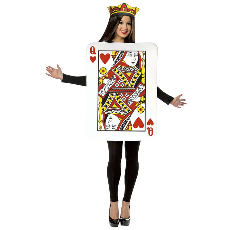 Queen Of Hearts Playing Card Costume - Ladies