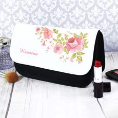 Personalised Rose Make Up Bag