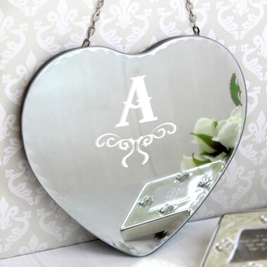 Personalised Initial Heart Mirror