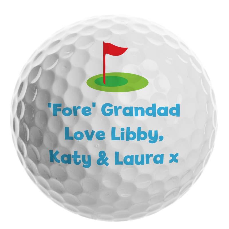 Personalised Flag Golf Ball